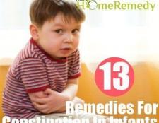 Remèdes à la maison pour la constipation chez les nourrissons