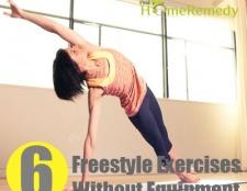 Différents types d'exercices freestyle sans équipement