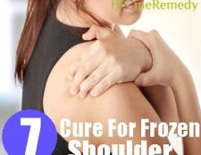Remède naturel pour l'épaule gelée