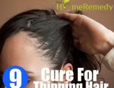 Remède naturel pour l'amincissement des cheveux