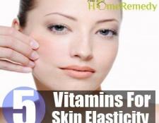 Vitamines pour améliorer l'élasticité de la peau