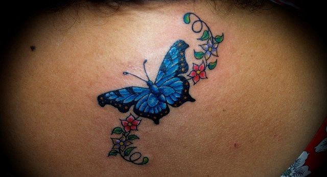 Papillon Tatoo Conception For Girls
