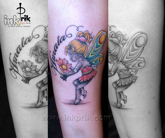 Ange Design Tattoo sur le bras